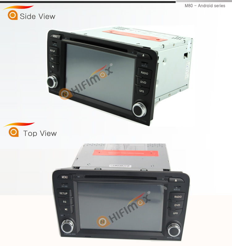 HIFIMAX Android 6.0 car audio For Audi A3 gps Navi 32GB OCTA-core DVD with reversing camera for audi a3 optional