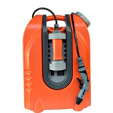 Economical portable high pressure car washer For car washing with rechargeable battery LED lighter