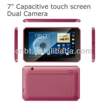 low cost 7 inch tablet pc korea with front and back camera