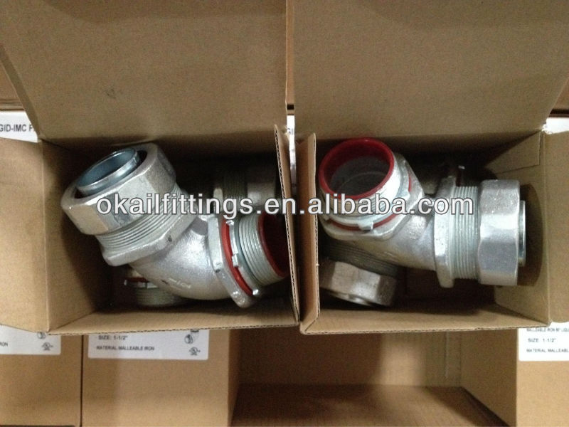 China Malleable Iron liquid tight Fittings/ Liquid tight Connectors Straight