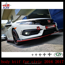 Small body kit for new civic 2016 2017 front lip rear diffuser side skirts