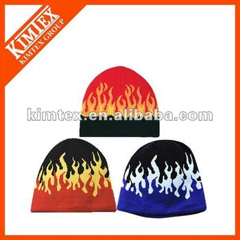 Fashional Flame style Knit beanie