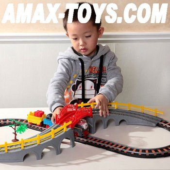 ect-02134 electric track train children track train assembling track train children toys