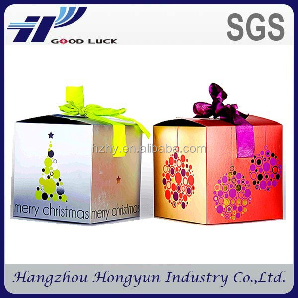 Customized Rigid Paper Folding Box Magnetic Closure Cardboard Gift Box Foldable Paper Box With Ribbon