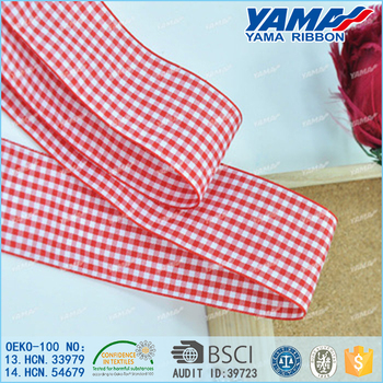 Personalized 100% nylon yarn-dyed plain weave fabric woven edge ribbon