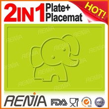 RENJIA make your own silicon placemats australia,round silicone coaster,hot pink placemats