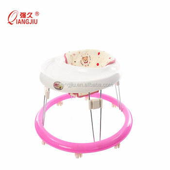Best quality licensed ABS plastic 8 PU Wheels Round Baby Walker