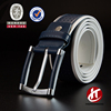 Mens Classic Genuine Leather Uniform Belt With Two Rpw Stitch