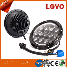 New arrival 5500LM 105w round led headlight for jeep wrangler