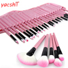 yaeshii 2018 go pro synthesis hair 32piece pink make up set brushes vegan beauty cosmetic maquillaje makeup brush