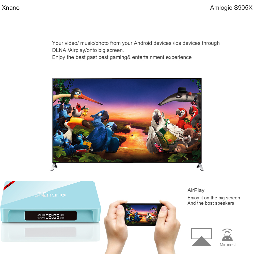X96 pro Amlogic S905X Quad Core HD Digital Cable TV Set Top Box