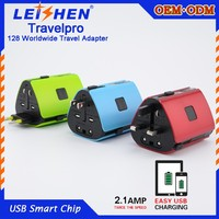 newest gift ideas universal travel adapter for bank/hotel promotion gift