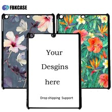 custom design 2d sublimation cover for Ipad mini 4,hard plastic printed 2d sublimation