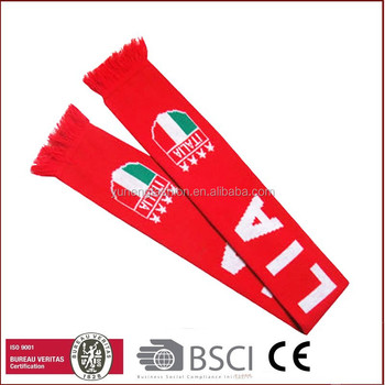 Promotion Custom Football Sport Scarves with LOGO