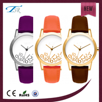 low price fashion leather strap quartz ladies watch for promotion