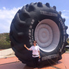 Giant inflatable tire advertising with logo for promotion