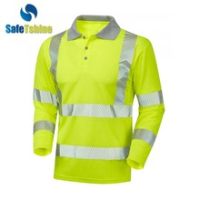 high visibility new design cheap long sleeve Polo shirt