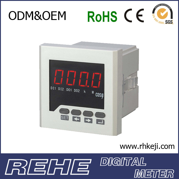 Multi-Function 3A+3V+HZ+COS Digital Meter ampere voltage frequency combined meter