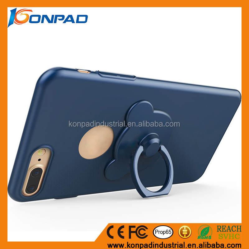 360 degree rotating ring holder phone case/mobile phone cover case with kickstand for iphone