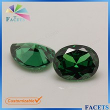 Large Stock Factory Direct Sale Cubic Zircon 5*7mm Oval Emerald Russian Hot Selling