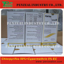 Chlorpyrifos 50%+Cypermethrin 5% EC, agrochemical insecticide 2921-88-2