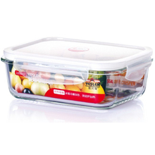 Borosilicate heat-resistant glass food container/Pyrex stackable glass food storage containers with PP lid