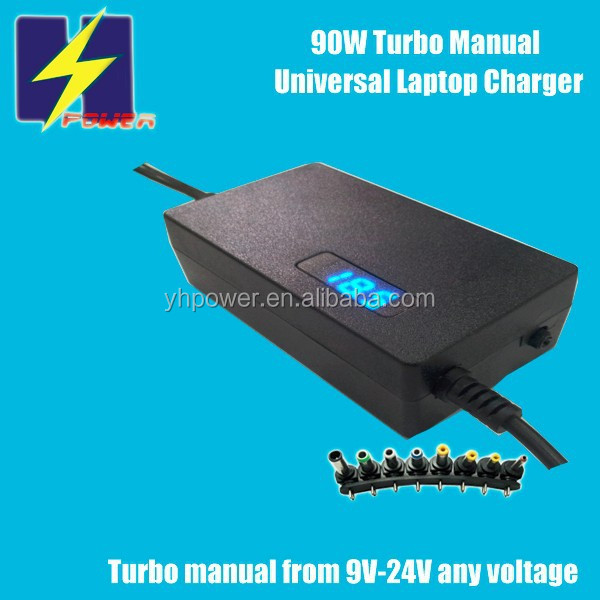 Universal Laptop Adaptor 90W with LED 9V-24V Turbo Manual Output for PSP,LCD,CCTV