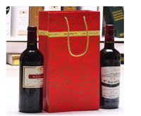 Direct factory made luxury custom wine bottle paper bag