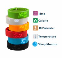 Colorful Watch Pedometers With USB For Outdoor Sports best pedometer for walking