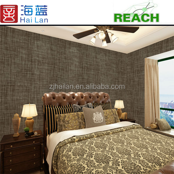mesh fabric textile woven pvc coated fabric hotel design custom vinyl stickers wallpaper