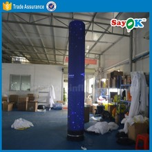 custom made inflatable lighting tower led inflatable tube advertising pillar