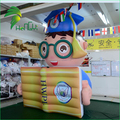 Customized Giant Inflatable Figure Shape , Inflatable Doctor Model With Book Shape For Advertising