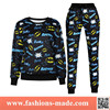 2015 Fashion Women Printed Emoji Cotton Tracksuit for Sale