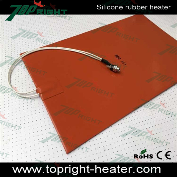 Electric engine block heater, silicone rubber heater pad with DC socket