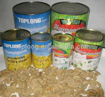 Canned Champignon mushrooms