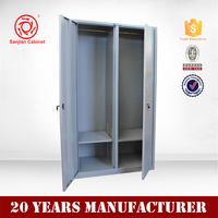 Wardrobes Cabinet Stainless Clothes Locker Furniture steel cabinet with two doors