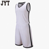 High quality sample polyester fabrics customize college basketball uniform white designs wholesale teams wear