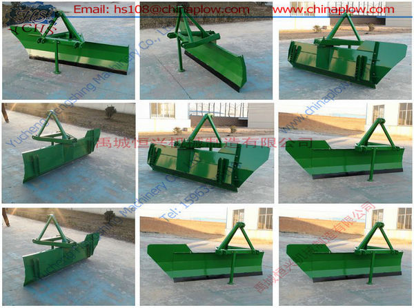 Farm tractor snow plow