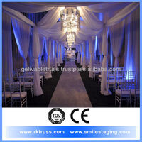 3m high pipe and drape set for wedding wall decoration