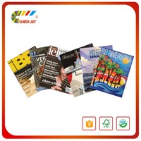 China low cost glossy/matt full color cheap magazine printing