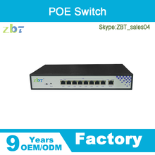 High quality 8 port 10/100Mbps unmanaged POE switch poe ip camera