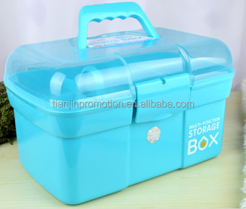 Plastic Medical Emergency Box with divider