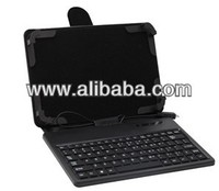 Leather Case with Silicon Keyboard for 7inch Tablet PC