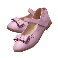 New Arrival Fashion School Shoes With Bow Knot Fashion Design Soft Sole Kid Shoe