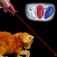 Mouse Shape Red Laser Pointer Flashlight Cat Toy