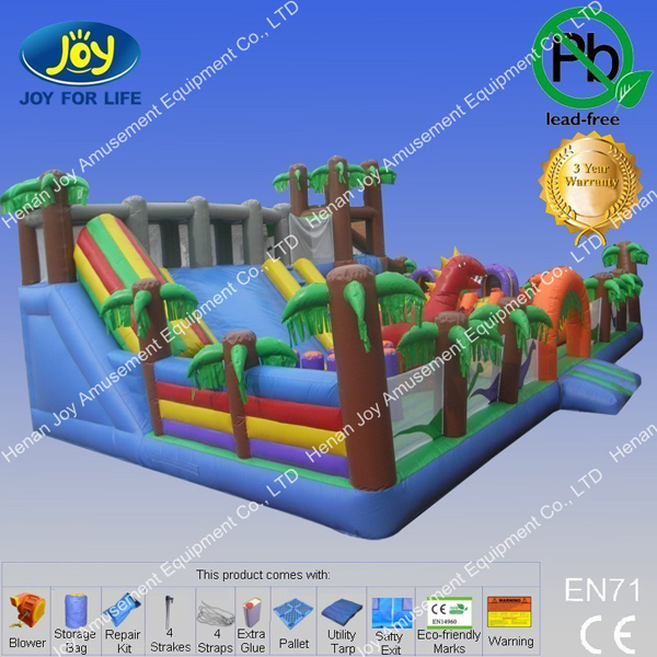 15*8*6 m Comercial Inflatables Large Jumping Castle Slide