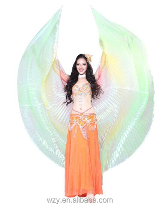 Factory sale Mixed Color belly dance costumes opening belly dance isis wing for women