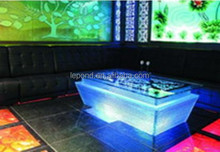 modern KTV led glass mermaid coffee table