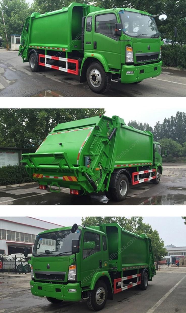 Garbage Truck Power Wheels : Sinotruk howo manuel cbm new power wheel garbage truck