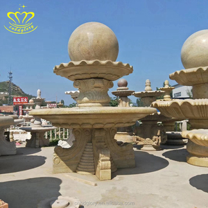 Large marble water fountain in theme park decoration